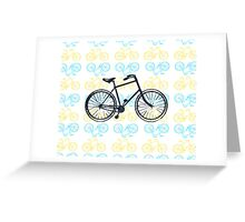 Bicycles (Blue and Yellow) Greeting Card