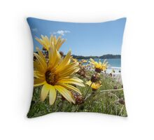 Yellows Greens And Blues Throw Pillow