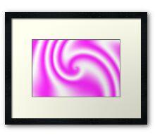 Raspberry Ribbon Candy Fractal Framed Print