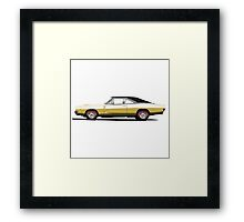 Dodge Charger R/T 426 Hemi (yellow) Framed Print
