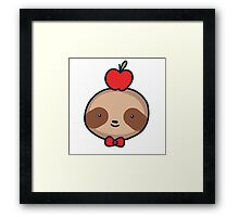 Bow Tie Sloth Face Framed Print