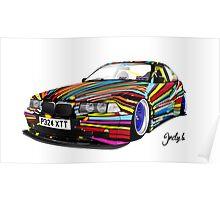 BMW E36 Poster