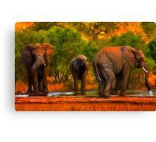 Kruger Elephants Canvas Print