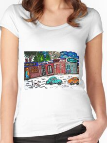 OUR TOWN Women's Fitted Scoop T-Shirt