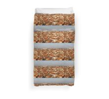 Impressions of Venice - Red Roofs and Cruise Ships Duvet Cover