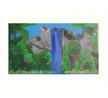 waterfall/trees Art Print