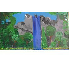 waterfall/trees Photographic Print