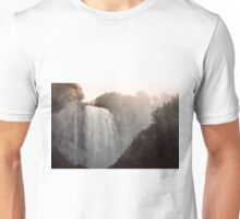 Panoramic view of the Marmore's falls Unisex T-Shirt
