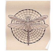Dragonfly Tangle Poster