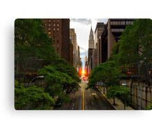 Manhattanhenge 2014 Canvas Print