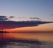 Panorama - Toronto Sunrise in June by Georgia Mizuleva