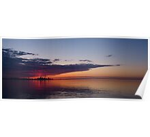 Panorama - Toronto Sunrise in June Poster