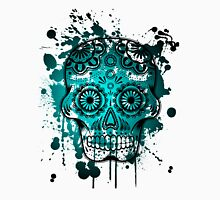 Watercolor blue skull dia de los muertos Unisex T-Shirt