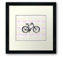 Bicycles (Pink) Framed Print