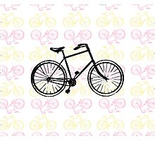 Bicycles (Pink) Photographic Print