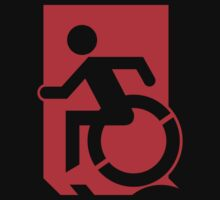 Emergency Exit Sign, with the Accessible Means of Egress Icon, part of the Accessible Exit Sign Project Baby Tee