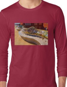 Gaudi's Park Guell Sinuous Curves - Impressions Of Barcelona Long Sleeve T-Shirt