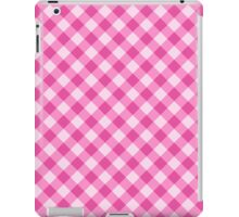 Pink gingham pattern tote bag, pillow and cases iPad Case/Skin