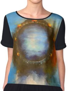 ancient worlds science fiction fantasy Chiffon Top