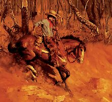 Riding in the OZ bush by Gerard Mignot