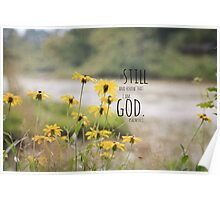 Know I Am God Psalm 46 Poster