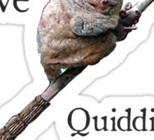 Tarsiers love Quidditch Sticker