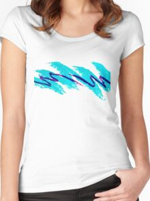 90's Dixie Cup Pattern Women's Fitted Scoop T-Shirt
