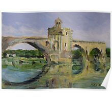 June Morning by Pont D'Avignon Poster