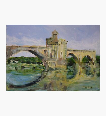 June Morning by Pont D'Avignon Photographic Print