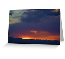 Sunset 6-10-14 Greeting Card