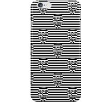 Anonymous Mask on Black and White Licorice Candy Stripes iPhone Case/Skin