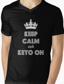 Health and Diet, Keep Calm and Keto on Mens V-Neck T-Shirt