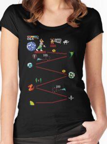 Do A Barrel Roll (Star Fox / Donkey Kong mashup) Women's Fitted Scoop T-Shirt