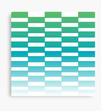 Beautiful Design Blocks Ombre Effect Contemporary Art Canvas Print