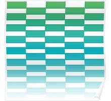 Beautiful Design Blocks Ombre Effect Contemporary Art Poster