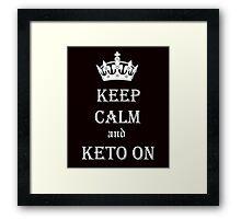 Keto, Health and Diet Framed Print