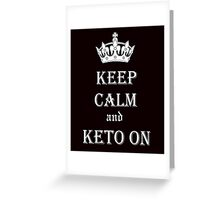 Keto, Health and Diet Greeting Card