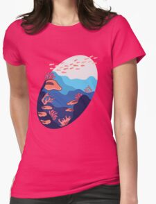 Underwater Tropical Ocean Womens Fitted T-Shirt