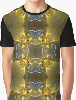 Kaleidoscope Gold and Sapphire Ribbons Graphic T-Shirt