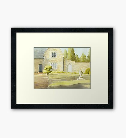 House with Walled Garden,  Newstead Abbey Grounds Framed Print