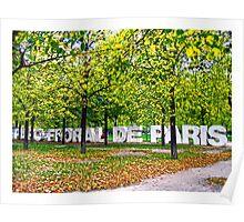 Parc Fleural De Paris Poster