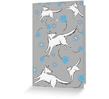 Wolves & Winter Roses Greeting Card