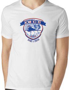 Born to Fly Mens V-Neck T-Shirt