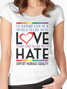 LGBT Love Over Hate Women's Fitted Scoop T-Shirt