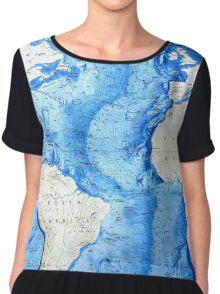 Atlantic ocean africa south america map Chiffon Top