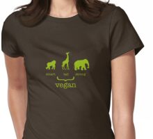 vegan strong Womens Fitted T-Shirt