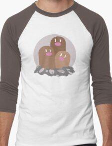 Dugtrio - Basic Men's Baseball ¾ T-Shirt