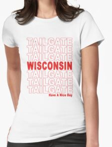 Thank You Wisconsin Tailgate Womens Fitted T-Shirt