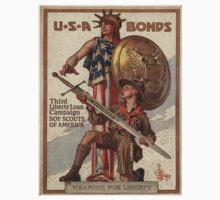 Vintage poster - USA Bonds One Piece - Short Sleeve