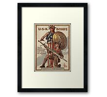 Vintage poster - USA Bonds Framed Print